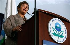 EPA Administrator Lisa Jackson gives a speech at a Washington conference in September.