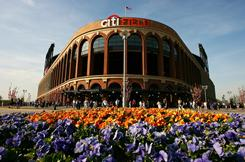 Citi Field in Flushing, Queens is home to the N.Y. Mets, seen here in April.
