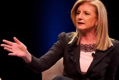 Arianna Huffington during an appearance as a panelist for Tavis Smiley's 'America's Next Chapter.'