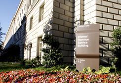 Headquarters of the Internal Revenue Service along Pennsylvania Avenue in Washington,