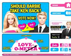 A social-media campaign asks consumers to vote on whether Barbie and Ken should reunite.