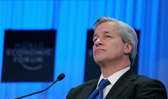 "JPMorgan Chase chief James Dimon, here at the World Economic Forum in Davos on Jan. 27, 2011: ""We deeply apologize to our military customers and their families for these mistakes."""