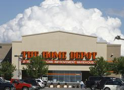 Clouds rise over the Home Depot in Williston, Vt. in this file photo.