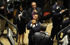 Floor reaction on the New York Stock Exchange on Sept. 29, 2008, after a steep drop in the Dow Jones Industrial Average.