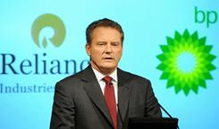 BP Chairman, Carl-Henric Svanberg addresses a press conference in London Feb. 21, 2011.