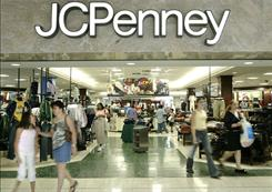 FIle Photo: Customers walk out of a J.C. Penny department store in Texas.