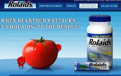 A screengrab from the Rolaids.com website.