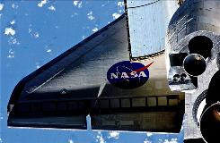 A view of space shuttle Discovery taken Feb. 26.