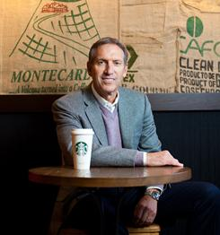 Starbucks CEO Howard Schultz, in a recently remodeled store in Seattle, believes the coffee chain can open 100 to 200 stores annually in the U.S. for quite some time.