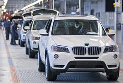 The 2011 BMW X3 crossover rolls off the line at the Spartanburg, S.C., plant.
