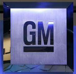 File photo:Shows the General Motors logo at the North American International Auto Show in Detroit, Michigan