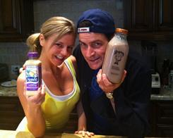 "This photo was the first thing Charlie Sheen posted to Twitter. It shows him with one of his ""goddesses,"" Rachel Oberlin."