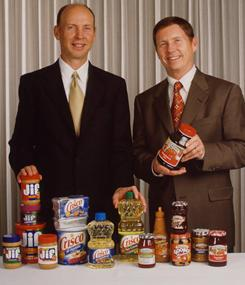 Brothers Richard Smucker,  left, and Tim Smucker, in 2001.
