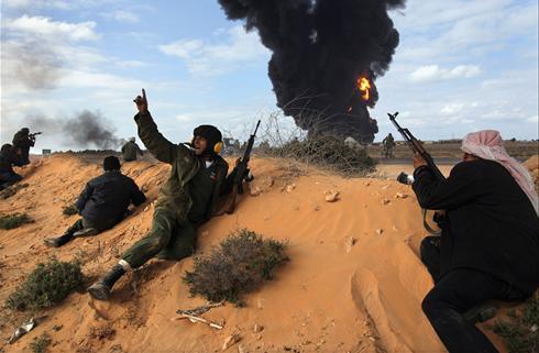 Война в Ливии - начало войны с Россией