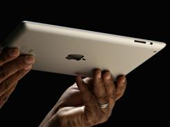 The iPad 2 in white.