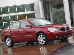 A 2006 Kia Optima. Kia is recalling more than 70,000 Optima midsize sedans to fix transmission problems.