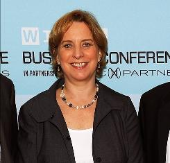 Then-NPR CEO Vivian Schiller in New York in June.