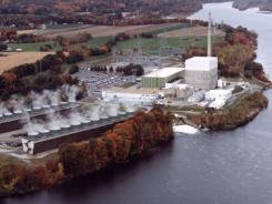 This file photo shows an  aerial view of the Vermont Yankee nuclear power plant in Vernon, Vt.