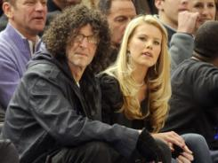 Howard Stern and his wife Beth Ostrosky at a New York Knicks game in January.