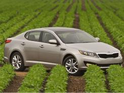 The styling of the Kia Optima is overwrought, but its performance is lively and appealing.