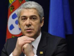 Outgoing Portuguese Prime Minister Jose Socrates at a press conference after the EU summit, March 25, 2011  in Brussels.