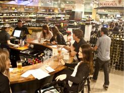 The recently opened Bar Lamar in Whole Foods' flagship store in Austin.