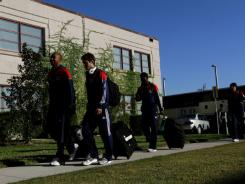 The Chicago Fire soccer team checks into a dorm at Xavier Hall at Ave Maria University Feb. 14 for a two-week stay.