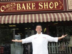 "TLC's ""Cake Boss"" Buddy Valastro, is shown outside his family bakery in Hoboken, N.J. in this 2009 photo."