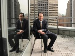 AT&T CEO Randall Stephenson outside USA TODAY's Manhattan office.