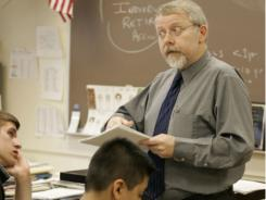 Don Zabelin teaches a personal finance class at West Chicago Community High School.