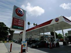Gas prices have toppeds $4 a gallon in some areas, like at this gas station on April 7, 2011, in Los Angeles.