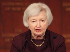 Janet Yellen, vice chairwoman of the Federal Reserve Bank, speaks at the Economic Club of New York on April 11, 2011.