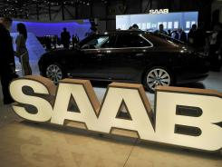 The Saab booth at the Geneva motor show March 1, 2011.
