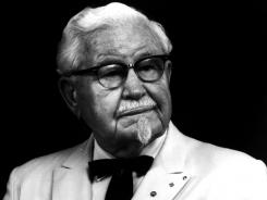 Colonel Harland Sanders, founder of Kentucky Fried Chicken, now KFC.