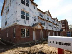 A multi-family condominium project is under construction March 16, 2011 in Des Plaines, Illinois.