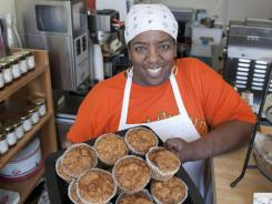 Sonya Jones, owner of the Sweet Auburn Bread Company in Atlanta, specializes in southern- inspired food including sweet potato muffins.