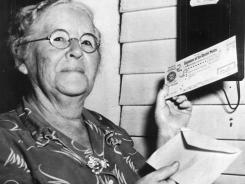 Ida May Fuller was the first to receive Social Security benefits, starting Jan. 31, 1940.