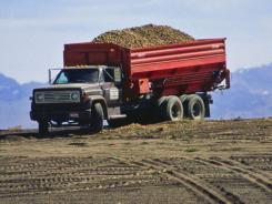 A potato truck in Idaho.