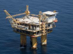 An oil platform in the Gulf of Mexico is shown in this March 2011 file photo.