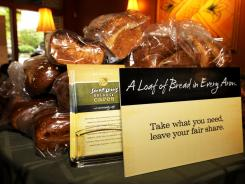 Bread sits in Panera's first pay-what-you-can Panera.