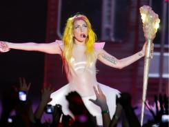 Lady Gaga performs in February at Boardwalk Hall Arena in Atlantic City.