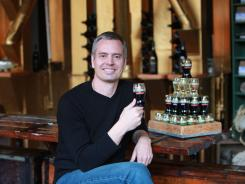 James Martin, founder of Copa di Vino, with his selection of wines.