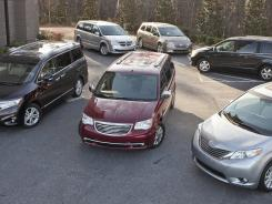 Six vehicles, priced at $35,000 to $44,000, including shipping, faced off in the Ultimate Minivan Shootout.
