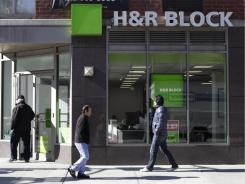 H&R Block trails Intuit and its TurboTax in the tax preparation software market.