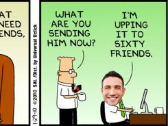 This Dilbert  cartoon has been personalized.