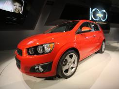 Chevrolet introduces the 2012 Sonic during this year's North American Auto Show in Detroit.