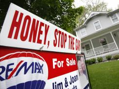 A  home is shown for sale in Chagrin Falls, Ohio, on May 23, 2011.
