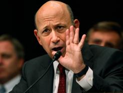 Lloyd Blankfein, chairman and CEO of Goldman Sachs Group, testifies before a Senate subcommittee on April 27, 2010.