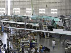 The Boeing Co. 737 assembly facility is shown in Renton, Wash, May 17, 2011.
