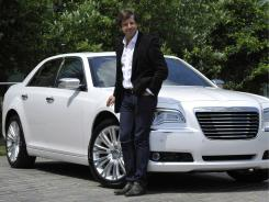 Olivier Francois, president and CEO of the Chrysler brand, with the Chrysler 300 Sedan.